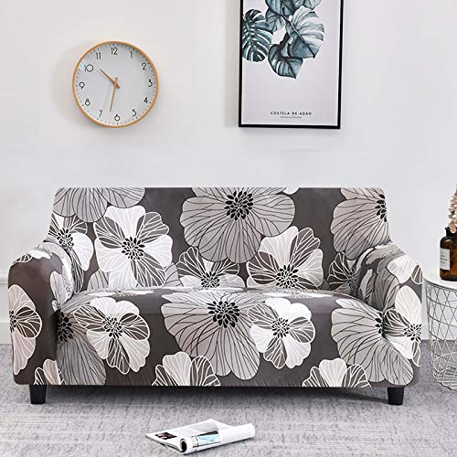 Funda de sofá con diseño de Flor de melocotón, Fundas de sofá elásticas elásticas para Muebles de Sala de Estar, Funda de sofá A24, 1 Plaza