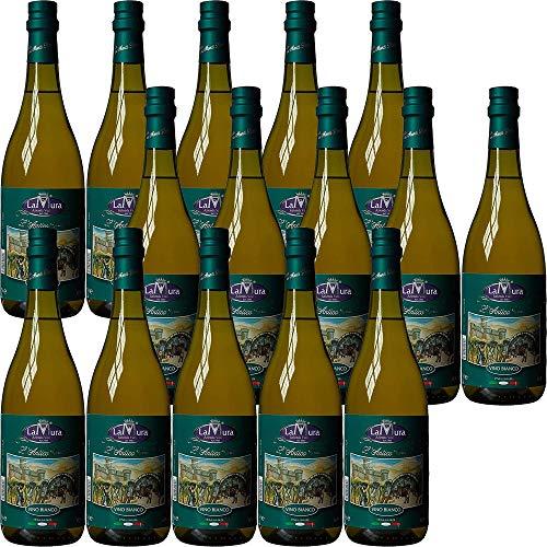 Vino Bianco da Tavola   La Mura   Gragnano   Maxi Formato 15 Bottiglie 75Cl