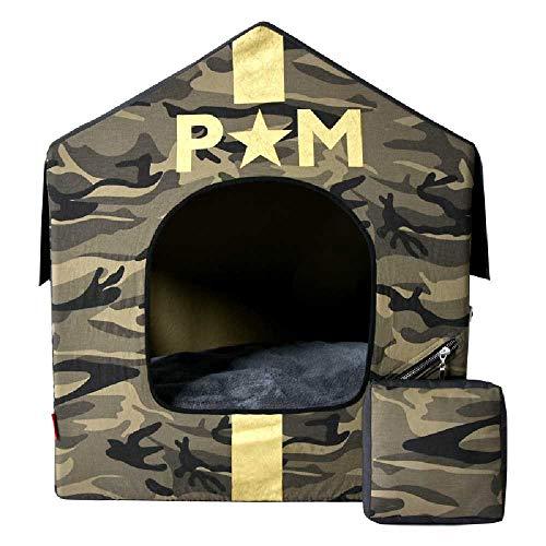 DIANSHENG Hundehütte Haustier Teddy Mittleres Und Kleines Zelt Eingeschlossen Abnehmbare Und Waschbare Innenkathaus Vier Jahreszeiten Universal Hundehütte M/Armee grün
