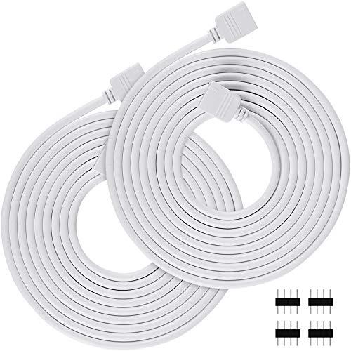 2 m LED Verlängerungskabel x 2, Verlängerung Anschluss Kabel LED Streifen Verbinder für 4 polig RGB 5050 3528 2835 LED Strip 4 polig LED TV Hintergrundbele