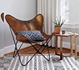 Brown Leather ARM Chair/Leather Butterfly Chair Home Decor/Presented by Leder_artesanía