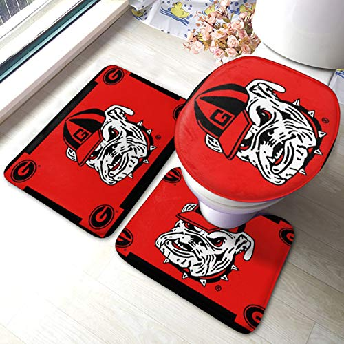 georgia bulldog bathroom mat - 3