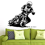 Tianpengyuanshuai Racing Motocross Vinilo Tatuajes de Pared Decoración Mural Motocicleta Racing Decal87X96cm