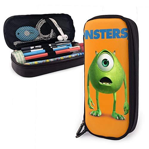 Monster University - Estuche de gran capacidad para guardar bolígrafos y lápices, bolsa de almacenamiento de escritorio con cremallera para suministros escolares y de oficina