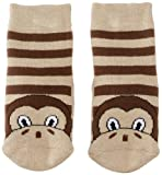 Country Kids Slipper Sock Monkey Chaussettes, Marron (Brown), FR: 4 Ans (Taille Fabricant: 3-5 Years) Mixte bébé