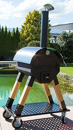 Exclusieve pizzaoven Dynamics 800 voor privé of commercieel, mobiele houtoven, broodoven, flammcakeoven, pizza-bakplezier voor buiten, Made in Germany