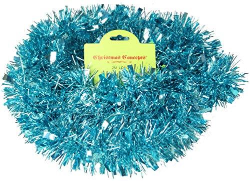 Christmas Concepts® Chunky/Fine Weihnachten Lametta -2 Meter - Weihnachtsdekoration (Ice Blue)