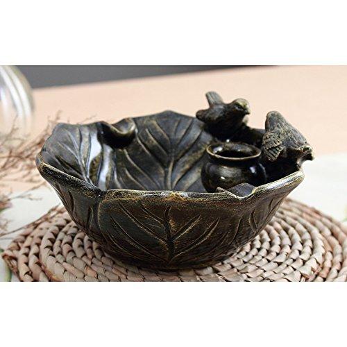 XP-ashtray Kreative Garten Aschenbecher europäischen Retro-High-End-Wohnzimmer Praktische Rauch Persönlichkeit Tee Tisch Harz Bronze Aschenbecher