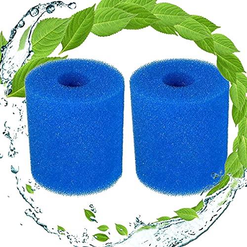 Mscomft Esponja de filtro tipo H para Intex, filtro de piscina, reutilizable, lavable, cartucho de repuesto para piscina, jacuzzi, filtro de spa (2 unidades)