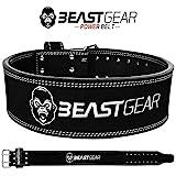 Beast Gear PowerBelt – Cintura da Palestra in Vera Pelle Nabuck con Doppia Fibbia – pe...