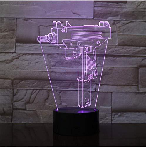 Infanterie Veilleuse Led 3D Illusion Usb Touch Sensor Enfant Enfants Cadeau Jeu Arme Pistolet M4A1 Ak 47 Table Lampe Bureau
