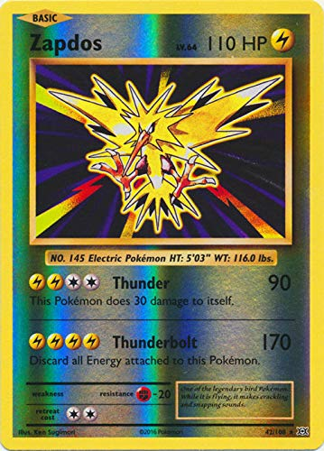 Pokemon - Zapdos (42/108) - XY Evolutions - Reverse Holo