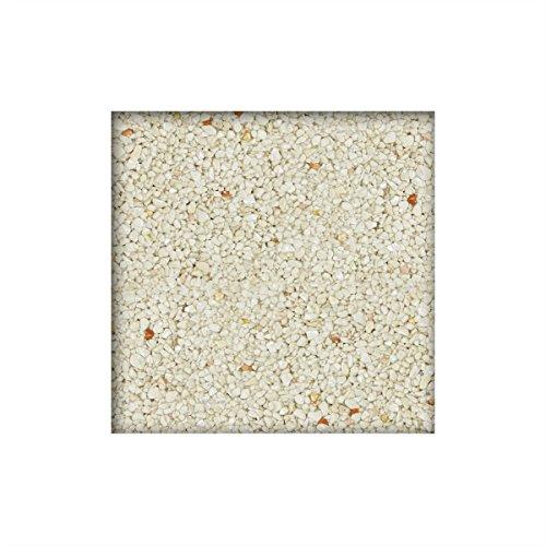 25 kg Steinteppich / Marmorkies inkl. 1K Bindemittel 2-4 mm ausreichend für ca. 2,3 m² direkt vom KiesKönig® Bianco Verona
