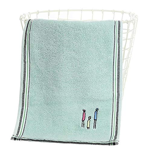 LASISZ Face Towel Washcloth Bathroom Supplies Quick-Dry Couple Toilet Eco-Friendly Home Cleaning Household Hand Soft Cotton,Green