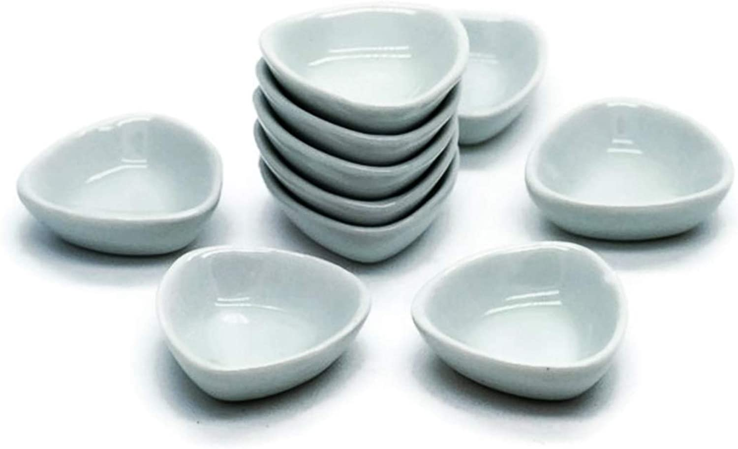 20 White Cearmic Plate Dish Bowl Dollhouse Miniatures Food Kitchen No 26 by Cool Price