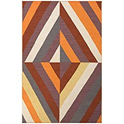 Amazon Modern Jaipur Living Tunnel Reversible Flatweave Geometric Orange Area Rug (5' X 8')