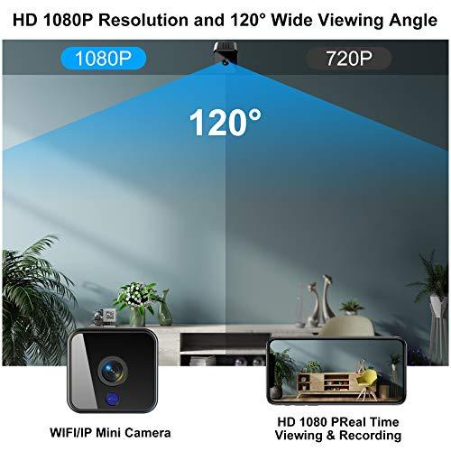 Mini Kamera Überwachungskameras HD 1080P WiFi Nanny Cam Nachtsicht mit und Bewegungserkennung Tragbare mit 32 GB SD-Karte