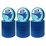 18 Rolls 0.94' Pro-Grade Blue Painters Tape, Medium Adhesive That Sticks Well But No Residue Left Behind, Individually Packed Wall Friendly by KIWIHUB