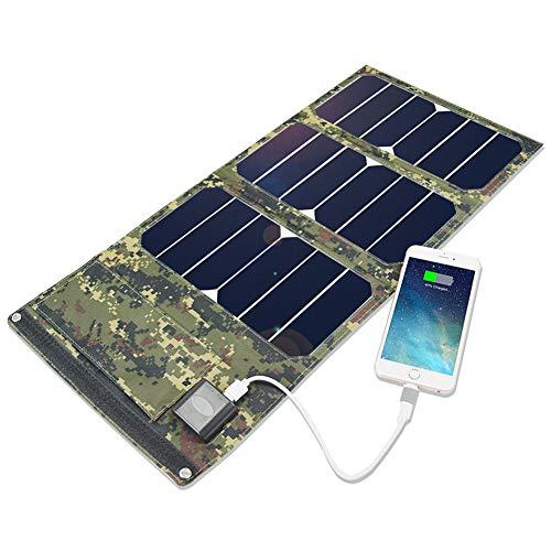KELUNIS Chargeur Solaire Portable Power Bank, Pack Batterie Solaire Étanche avec 3 Panneaux Solaires pour Les Voyages par Téléphone Et Camping