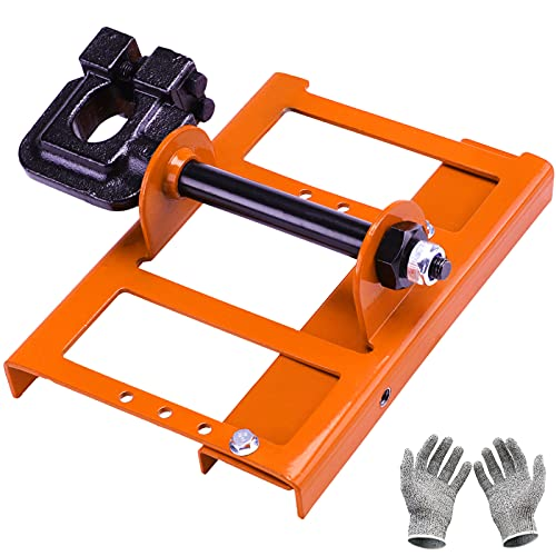 TAUSOM Chainsaw Mill Guide,Portable Steel Lumber Cutting Guide, Accessories for Cutting Wood with a Chainsaw for Lumbermakers,Orange