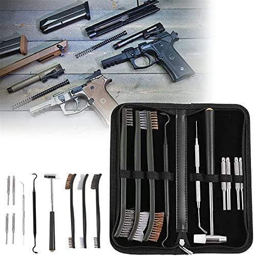 wsbdking Kit de Limpieza de escopetas con cepillos 3 unids y Aguja de Acero Inoxidable, 10 Piezas, Conjunto de Pistola de pulverización y Kit de Mantenimiento de la Herramienta Profesional