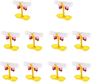 MagiDeal Pack of 10, Bird Coop Double Cups Automatic Poultry Water Drinking Chicken Fowl Drinker New