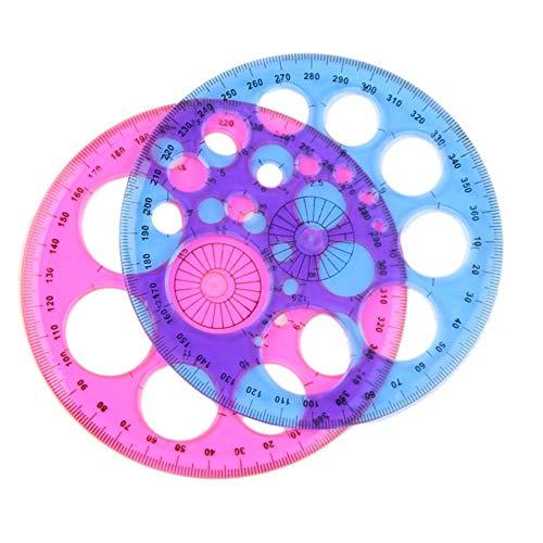 No/Brand Regla de medición Redonda de plástico Duradero de Color sólido, Regla de Retazos, Suministros Escolares de...