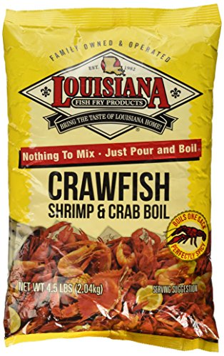 Louisiana Fish Fry Crawfish, Shrimp & Crab Boil Seasoning (4.5 Pounds)