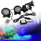 Unibell Luce Subacquea, 100-240 V Acquario Illuminazione Impermeabile a LED Faretto subacqueo RGB Acquario Giardino Stagno Giardino Lampada da Stagno Giardino Acquario RGB Luce Spot Lampada