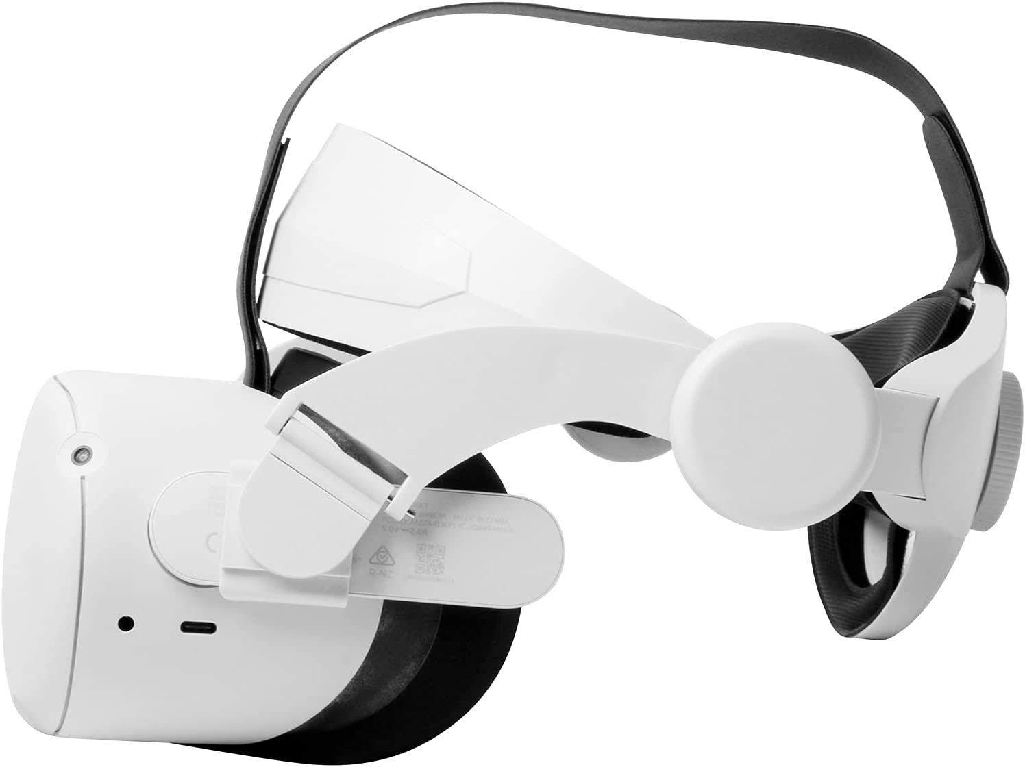 HUAYUWA Adjustable Headband with Head Cushion Compatible for Oculus Quest 2 VR Accessories, Replacement for Elite Strap Comfortable Protective Head Strap Reduce Pressure, White 1