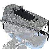 IOMOY Sonnensegel Kinderwagen, UV Schutz Wasserdicht Sonnenschutz Kinderwagen mit Sichtfenster und extra breite Schattenflügel