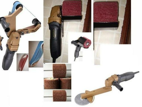 Sale!! toolsmart Pipe Tube angle grinder Polisher Burnisher Fillet Weld pipe bender Set 40 Belt 6 Wh...