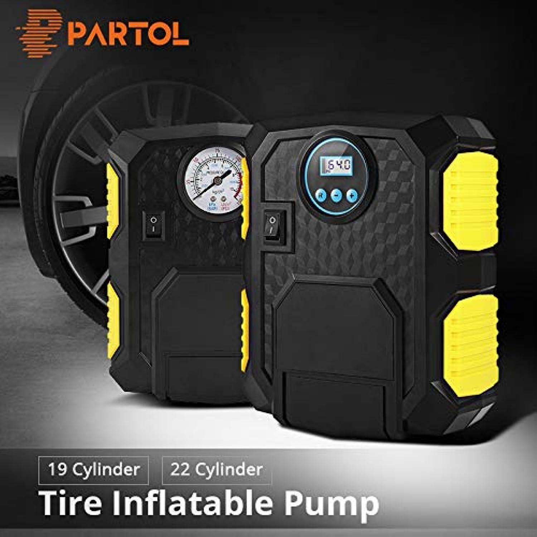 Aliaoforz Portable Electric Car Tire Inflator Pump 12V Auto Air Compressor LED Light Digital Inflatable Pump 19 22 Cylinder 120W