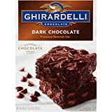 Ghirardelli Dark Chocolate Brownie Mix, 20 Ounce Boxes, Pack of 4