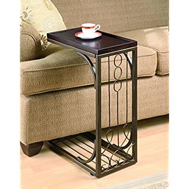 Coaster 900280 Snack Table with Burnished Copper Base, Brown