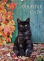 COUNTRY CATS (Wandkalender 2022 DIN A2 hoch): Bezaubernde Katzen fotografiert auf dem Land und in Bauerngaerten. (Monatskalender, 14 Seiten )