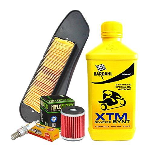 Bardahl XTM 10W40 - Kit de revisión de aceite y aire para bujías Yamaha X-City/X-Max 125