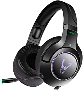 Woxter Stinger RX 1100 H - Auriculares Gaming Profesionales Led,Giratorios con micrófono para PS4–PC–Xbox One–Switch,Reduc...
