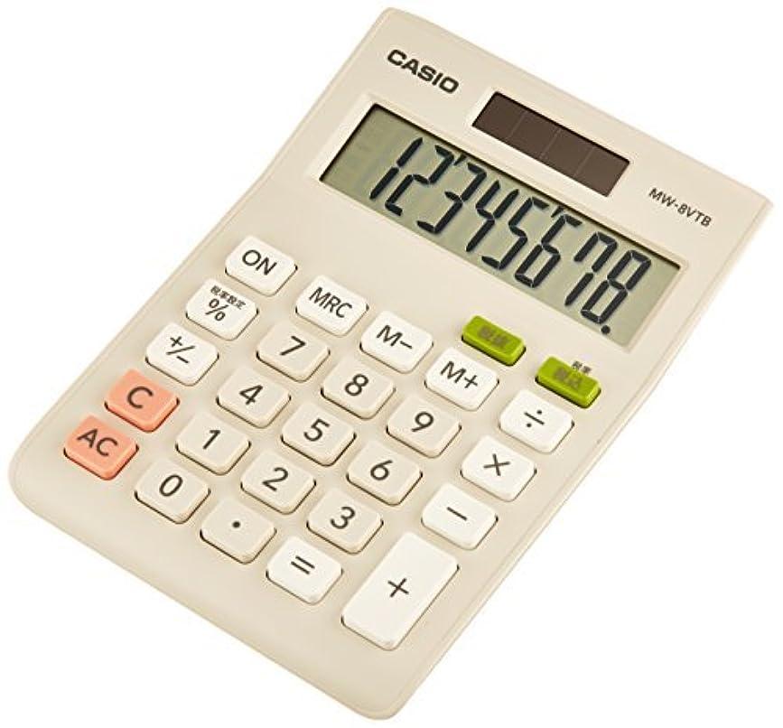 締め切り北西社説カシオ ミニジャスト電卓8桁 W税率対応 MW-8VTB-N 00020621 【まとめ買い3個セット】