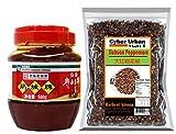 Sichuan Pixian Boad Bean Paste with Red Chili Oil Plus 3.5 Oz Szchuan Peppercorn Sichuan Red Peppercorn,
