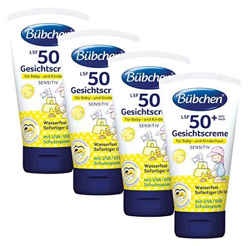 Bübchen Sensitiv Sonneschutz Gesichtscreme LSF 50+, 4er Pack (4 x 50 ml)