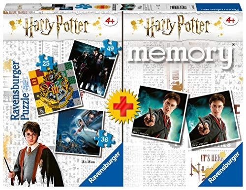 Ravensburger- Memory: Harry Potter Juego de Mesa, Multicolor (05054)