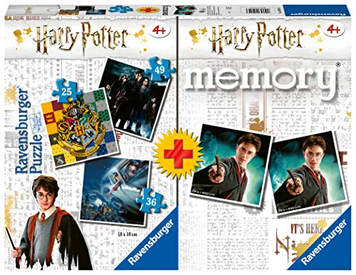 Ravensburger- Memory: Harry Potter Juego de Mesa, Multicolor (05054)