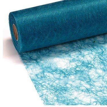 Sizoflor®, 100 decoratieve diamanten, afmetingen 25 m x 30 cm, vliesstof, origineel turquoise, tafelband, tafelloper, blauw, doop, verjaardagen