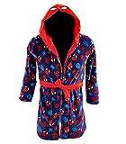 Marvel Ultimate Spiderman - Albornoz con capucha para niño azul oscuro...