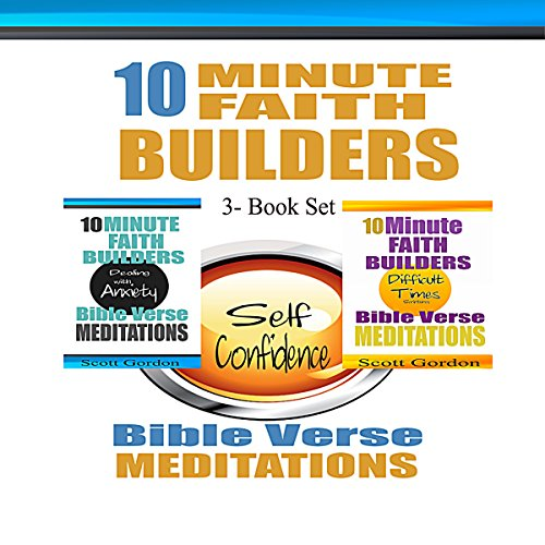 10 Minute Faith Builders: Bible Verse Meditations, 3 Book Set audiobook cover art