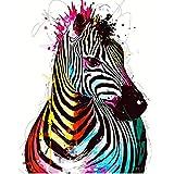 Zebra Colorata Animale Pittura Digitale Fai da Te by Numbers Modern Wall Art Canvas Painting Home Decor 40x50cm
