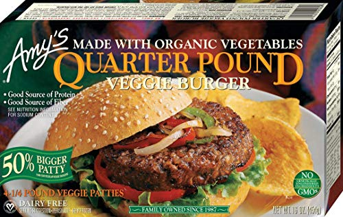 Amy's Meat Alternatives, Quarter Pound Veggie Burger, 4 Count (Frozen)