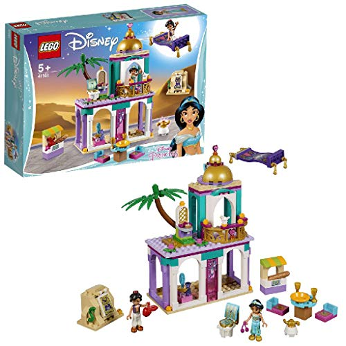 LEGO Disney Princess - Aventuras en Palacio de Aladdn y Jasmine, juguete creativo de construccin (41161)