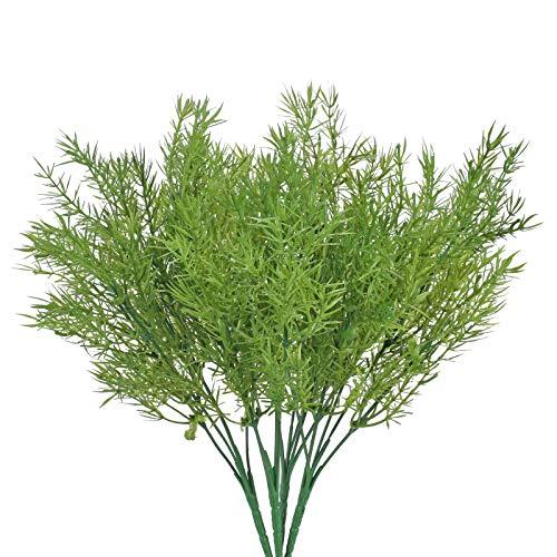 NAHUAA 4PCS Plantas Artificiales Arbustos de Plantas Plásticos Verdes Artificiales Plantas para Exteriores Interiores Jardín Oficina Casa y Decoración de Fiestas